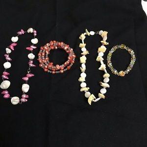 Jewelry 2 sets of necklaces & bracelets